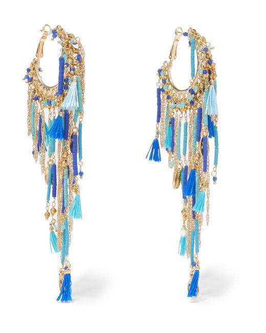Rosantica | Metallic Tortuga Tasseled Beaded Gold-tone Earrings | Lyst