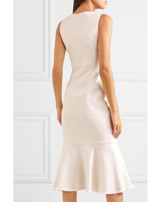 b0774acac0b ... Alice McCALL - White Like I Do Stretch-denim Dress - Lyst ...