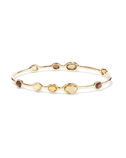 Ippolita | Metallic Rock Candy 18-karat Gold, Citrine And Quartz Bracelet | Lyst