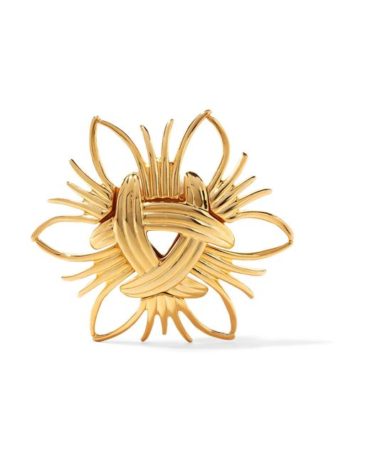 Kenneth Jay Lane | Metallic Gold-tone Brooch | Lyst
