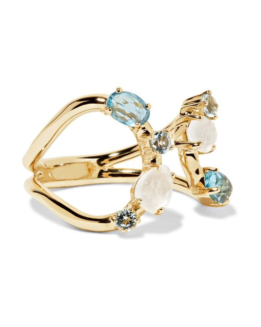 Ippolita | Metallic Rock Candy 18-karat Gold Topaz And Moonstone Ring | Lyst