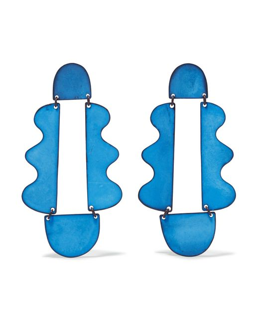 Annie Costello Brown - Blue Matisse Oxidized Earrings - Lyst