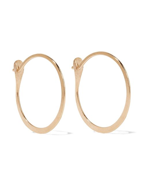 Melissa Joy Manning - Metallic 14-karat Gold Hoop Earrings - Lyst