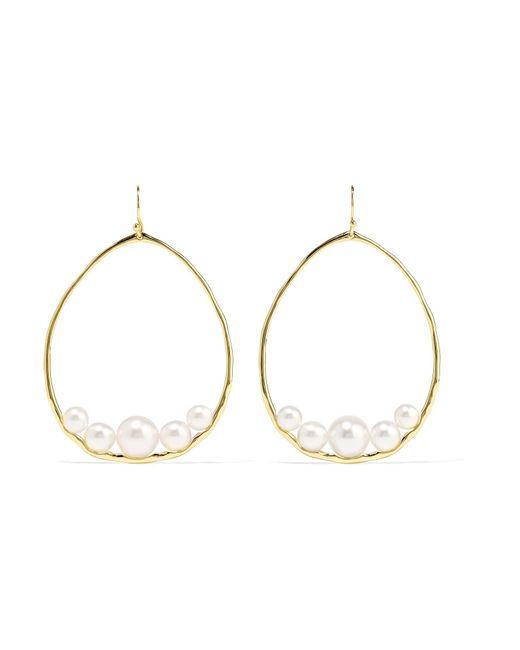 Ippolita - Metallic Nova 18-karat Gold Pearl Earrings Gold One Size - Lyst