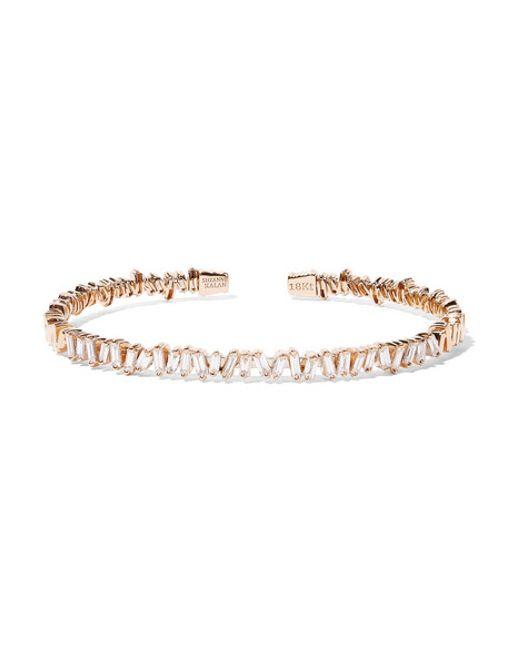 Suzanne Kalan | Metallic 18-karat Rose Gold Diamond Cuff | Lyst