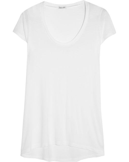 Splendid | White Cotton And Modal-blend Jersey T-shirt | Lyst