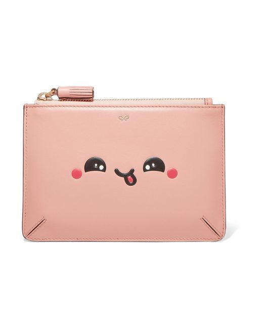 Anya Hindmarch | Pink Kawaii Leather Pouch | Lyst