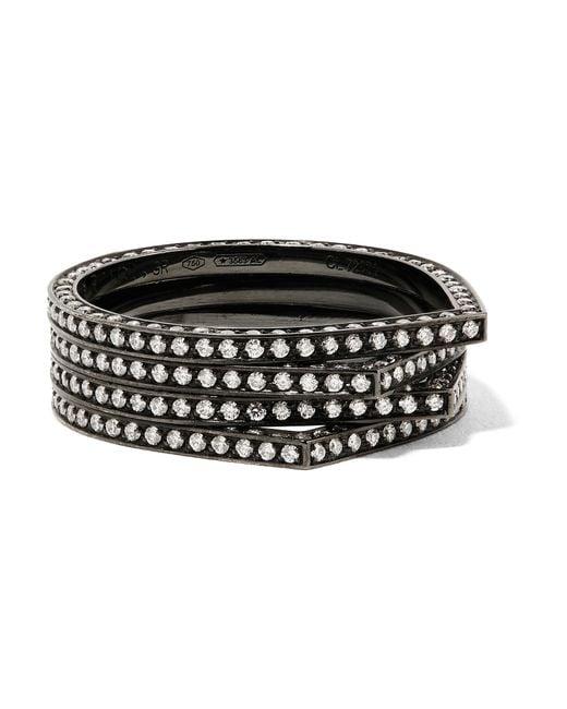 Repossi | Metallic Antifer 18-karat Black Gold-washed Diamond Ring | Lyst