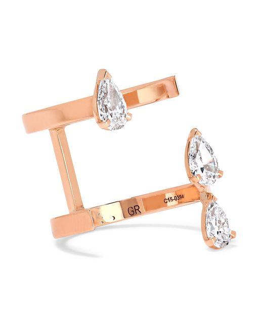 Repossi   Pink Serti Sur Vide 18-karat Rose Gold Diamond Ring   Lyst