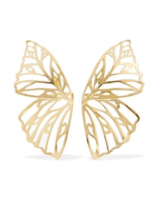 Jennifer Fisher - Metallic Butterfly Gold-plated Earrings - Lyst