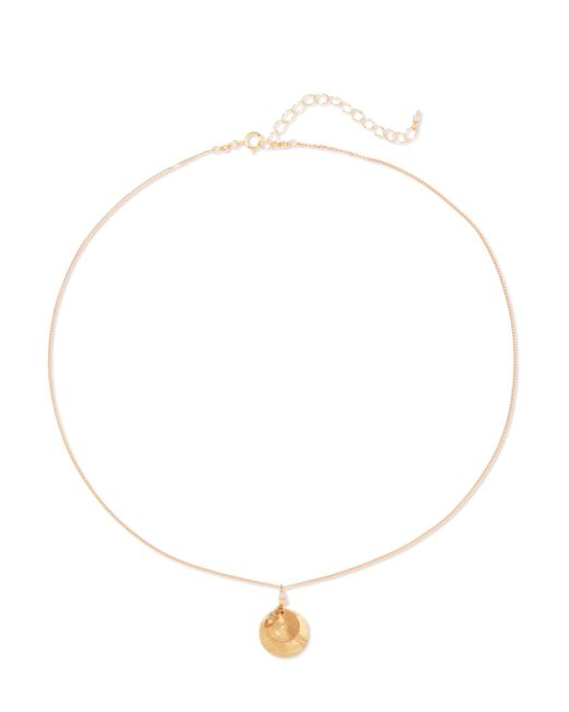 Chan Luu - Metallic Gold-tone And Crystal Necklace Gold One Size - Lyst