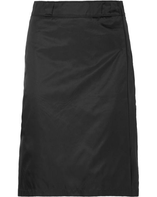 7d8de1e45832f7 Prada - Black Shell Wrap Skirt - Lyst ...