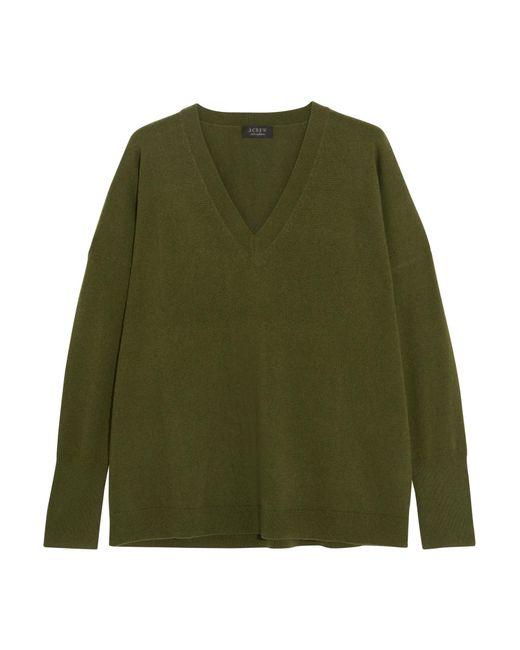 J.Crew - Green Cashmere Sweater - Lyst