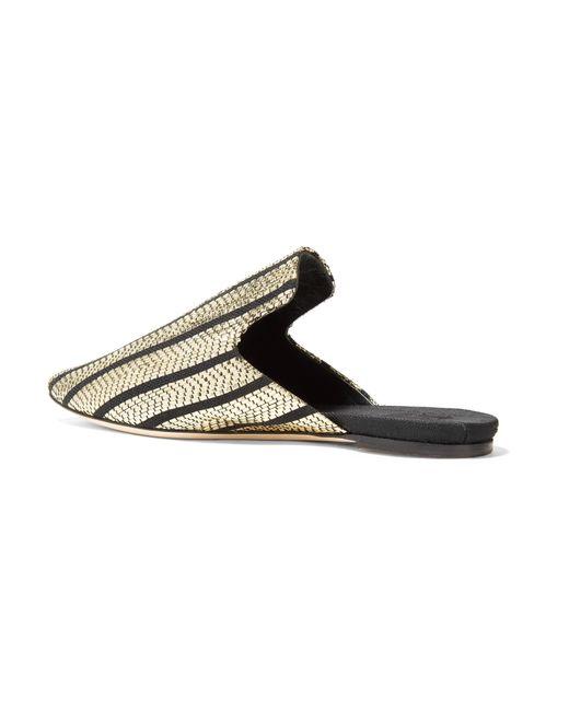 Sanayi 313 Riga Striped Metallic Slippers