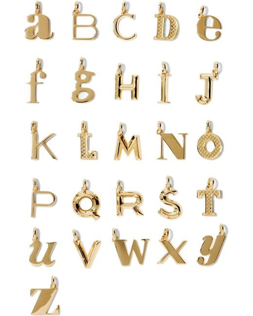 Monica Vinader - Metallic A-z Alphabet Letter Gold Vermeil Pendants - Lyst