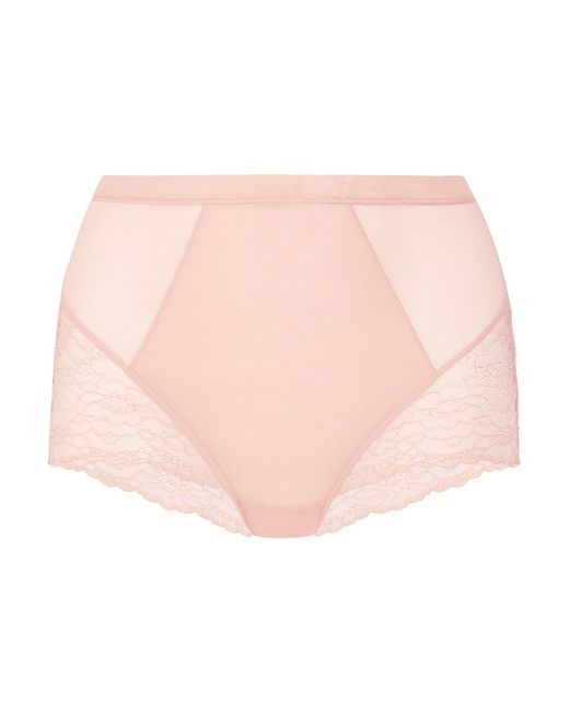 Spanx | Pink Spotlight Stretch-tulle And Lace Briefs | Lyst