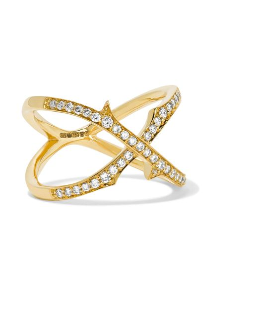 Stephen Webster | Metallic Thorn 18-karat Gold Diamond Ring | Lyst