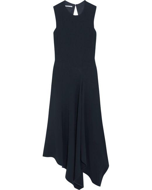 Stella McCartney | Blue Cutout Asymmetric Stretch-cady Dress | Lyst