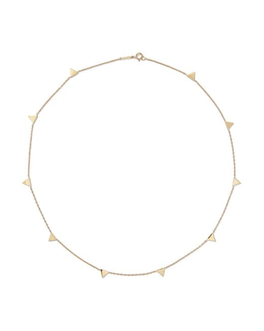 Jennifer Meyer   Metallic Triangle-by-the-inch 18-karat Gold Necklace   Lyst