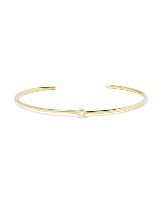 Jennifer Meyer | Metallic 18-karat Gold Diamond Cuff | Lyst