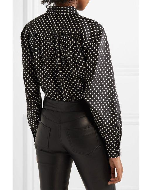 d6282e715580e7 ... Marc Jacobs - Black Polka-dot Silk-satin Shirt - Lyst ...