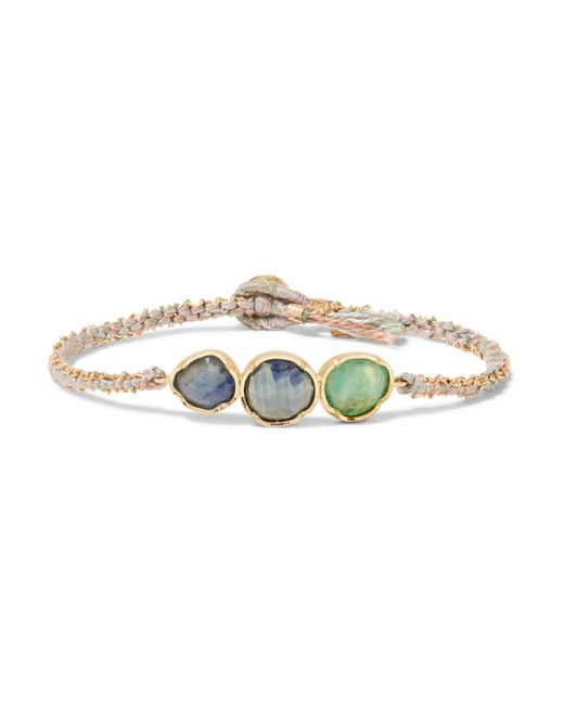 Brooke Gregson | Metallic Triple Orbit 18-karat Gold, Sapphire And Emerald Bracelet | Lyst