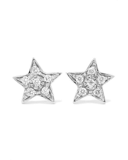 Carolina Bucci - Metallic Superstellar 18-karat White Gold Diamond Earrings - Lyst