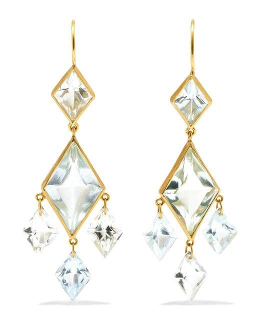 Marie-hélène De Taillac - Metallic 22-karat Gold Multi-stone Earrings - Lyst
