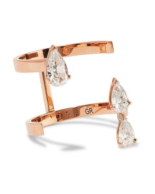 Repossi | Multicolor Serti Sur Vide 18-karat Rose Gold Diamond Ring | Lyst