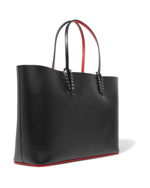 Christian Louboutin Cabata Studded Textured Leather Tote
