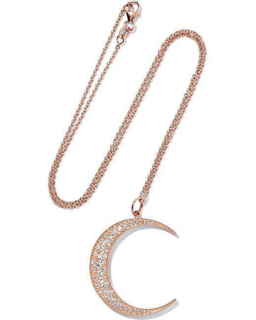 Andrea Fohrman | Metallic Luna 18-karat Rose Gold Diamond Necklace | Lyst