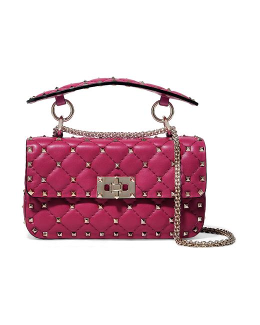 83a15dca1e02 Valentino - Multicolor Garavani The Rockstud Spike Medium Quilted Leather Shoulder  Bag - Lyst ...