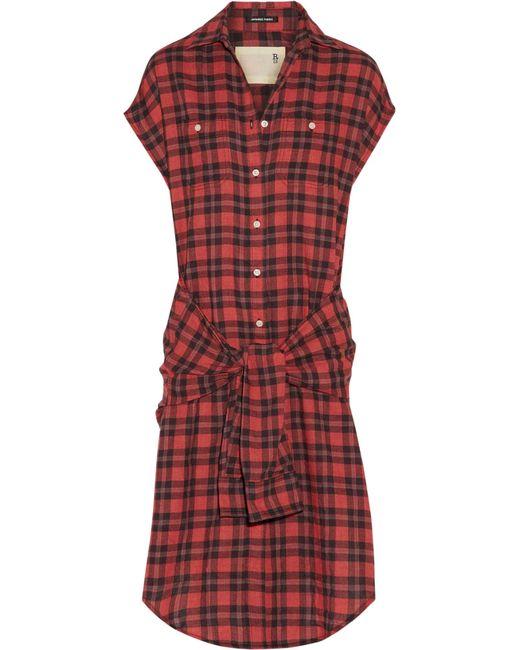 R13 - Wrap Dress Red Plaid - Lyst
