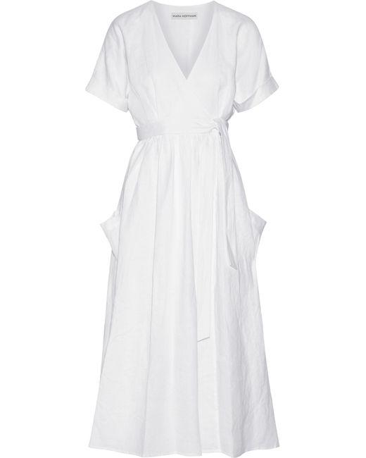 Mara Hoffman | White Organic Linen Wrap Midi Dress | Lyst