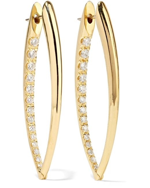 Melissa Kaye - Metallic Cristina 18-karat Gold Diamond Earrings - Lyst