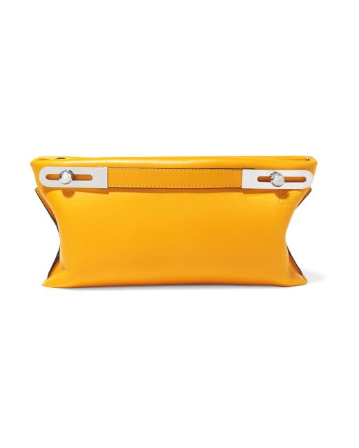 Loewe - Yellow Missy Small Textured-leather Shoulder Bag - Lyst