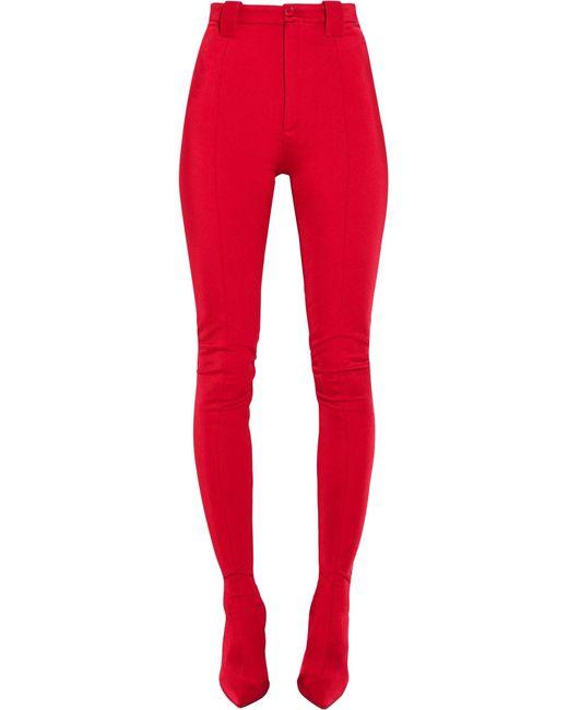 Balenciaga   Red Stretch-satin Skinny Pants   Lyst