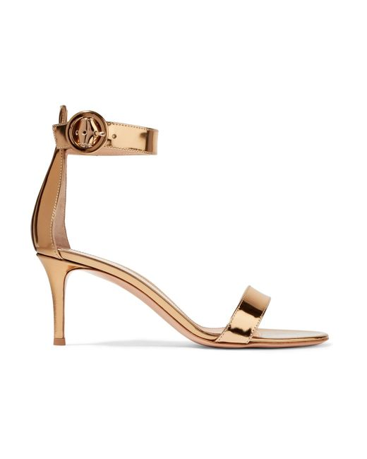 Gianvito Rossi | Portofino Metallic Leather Sandals | Lyst