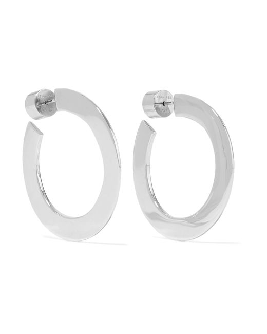 Jennifer Fisher - Metallic Mini Drew Silver-plated Hoop Earrings Silver One Size - Lyst