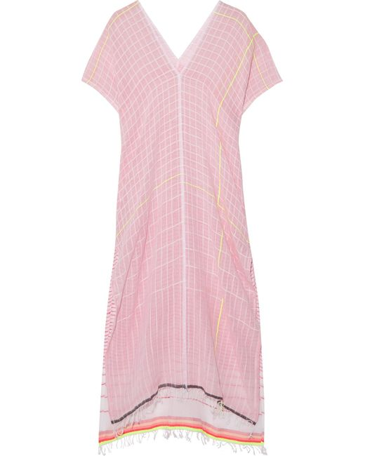 Lemlem   Pink Anan Printed Cotton-blend Gauze Kaftan   Lyst