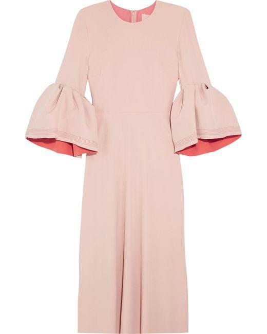 Roksanda | Pink Turlin Stretch-crepe Midi Dress | Lyst