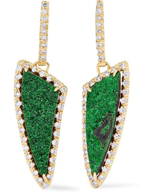 Kimberly Mcdonald | Metallic 18-karat Gold, Diamond And Garnet Earrings | Lyst