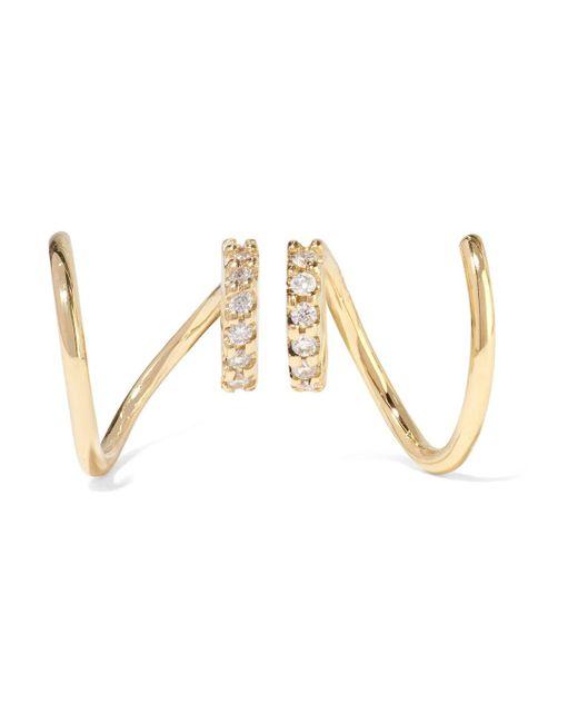 Maria Black - Metallic Lila Twirl 18-karat Gold Diamond Earrings - Lyst