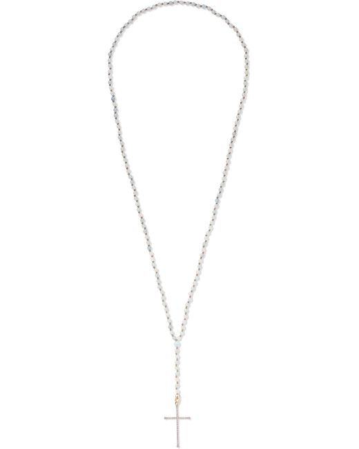 Diane Kordas - Metallic 18-karat Rose Gold, Diamond And Aquamarine Necklace Rose Gold One Size - Lyst