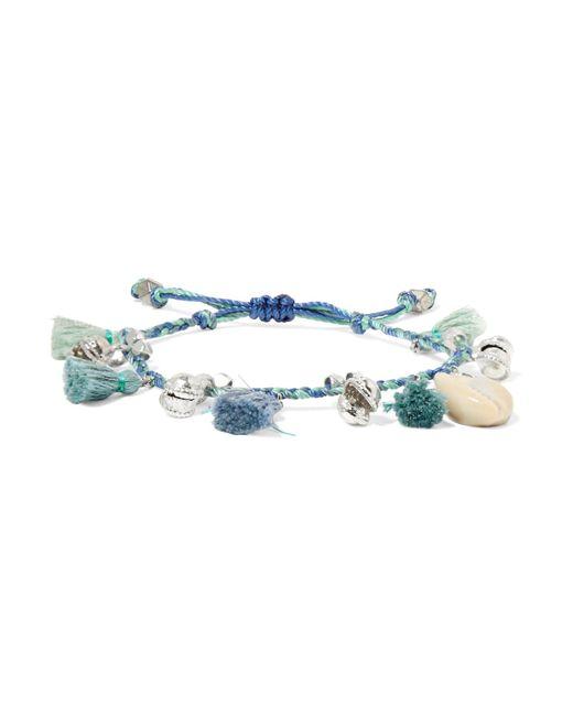 Chan Luu | Blue Tasseled Silver-tone And Shell Bracelet | Lyst