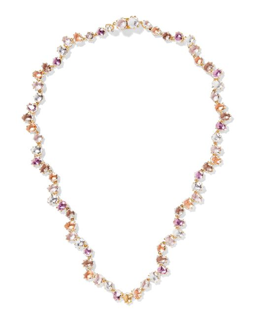 Larkspur & Hawk | Metallic Caterina Garland Rivière Gold-dipped Quartz Necklace | Lyst