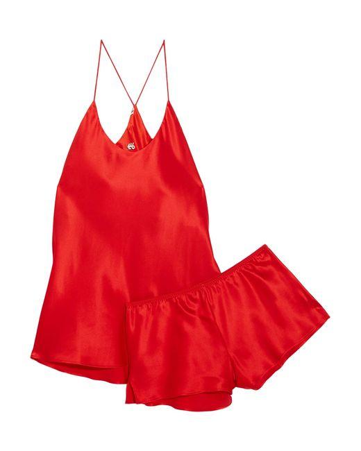 Olivia Von Halle | Red Bella Silk-satin Pajama Set | Lyst