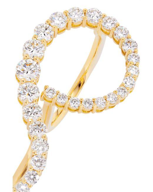 Melissa Kaye Aria Grace 18-karat Gold Diamond Two-finger Ring RbnkT17CzB