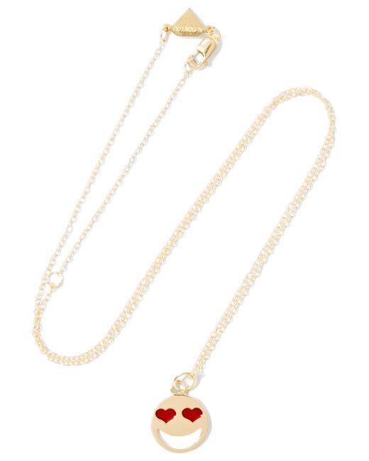 Alison Lou | Metallic Lovestruck Enameled 14-karat Gold Necklace | Lyst