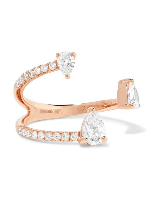 Anita Ko | Metallic Saturn 18-karat Rose Gold Diamond Ring | Lyst